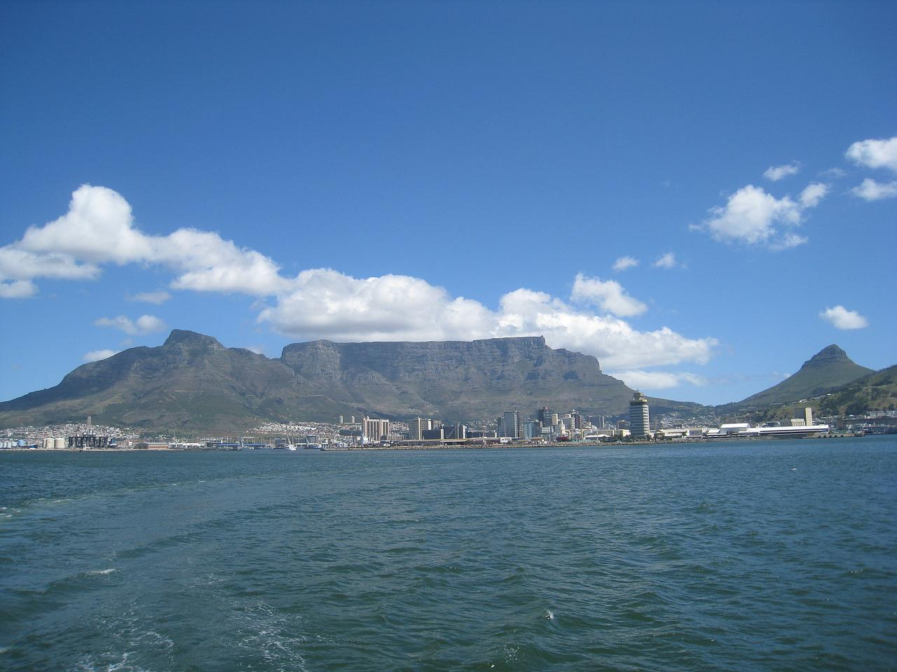 Downtown Cape Town as seen from the water
