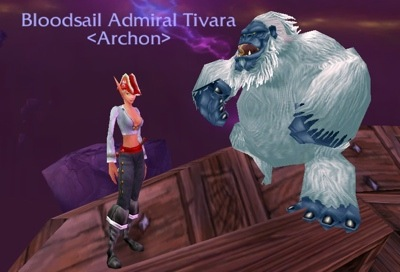 Tivara and Her Admiral's Hat