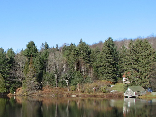 Old boathouse on Meech Lake