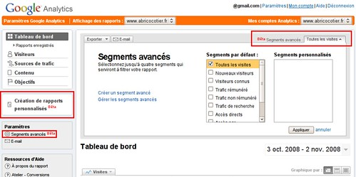 Google Analytics - Segments Avancés Beta
