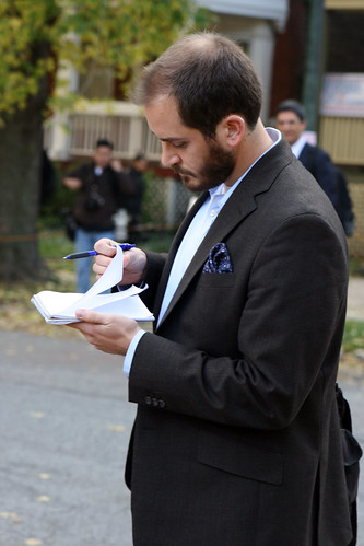 Journalist taking notes