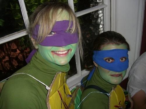 Ninja Turtles Donatello and Leonardo