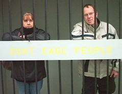 We're tired of being discriminated against (Help the Aged campaigns) Tags: charity west alan shopping centre johnson cage rage quay kingston help age mp aged hull princes upon discrimination hessle ageism