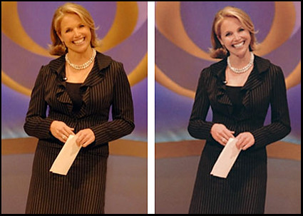 worst edited celebrity images- Katie Couric
