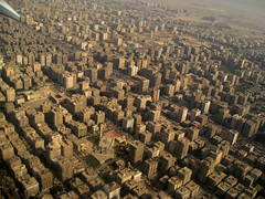 Cairo from Above / Lower Egypt () Tags: africa city vacation holiday building window inflight desert northafrica altitude wing egypt mosque aerial cairo desier