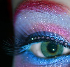 Day 345 of 365 (wisely-chosen) Tags: november selfportrait macro eye me colorful makeup 2008 rhinestones picnik falseeyelashes 365days mineralglow13whitediamondshimmerypowder manicpanichothotpink coastalscentsmanganesevioletpigment coastalscentsultramarinebluepigment mineralglow23babyblueshimmerypowder mineralglow1champagneshimmerypowder coastalscentsultramarineviolet mineralglowg9lavendershimmeryglitter jessesgirlsuperpearlpink