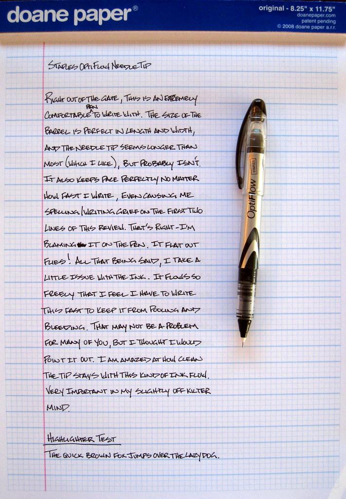Review Staples Opti Flow The Pen Addict