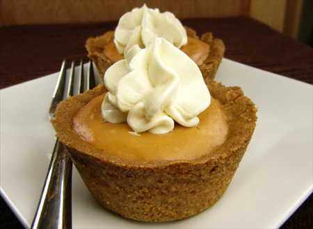 Mini Pumpkin Pies - Thanksgiving 2008