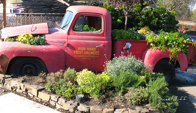 High Hand planted truck