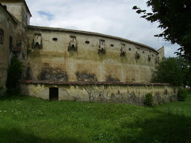 Harman Fortified Church - defensive wall