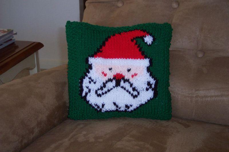 Santa Pillow front