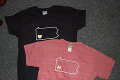 The Heart of PA T-shirts from IheartPGH.Spread...