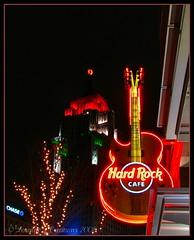 Hard Rockin Detroit (lorainedicerbo) Tags: colors night detroit christmaslights safari campusmartius hardrockcafe penobscotbuilding exposuredetroit lorainedicerbo expdet121308
