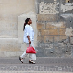 Walking (Istvan) Tags: people woman paris candid onestep 500x500 pfogold thechallengefactory