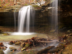 Double the Dismal waterfalls (cormack13) Tags: waterfall arkansas thegloryhole ozarknationalforest dismalcreek