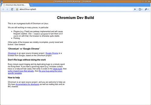 Chromium Linux alatt - '09 július