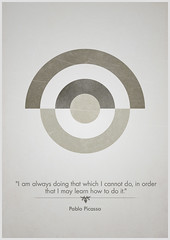 You never stop learning. (Matt Willmott) Tags: never poster you quote pablo stop picasso target learning
