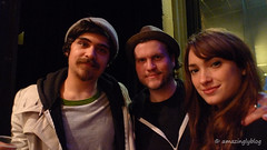 Kurran, Chris and Natalia from Kurran and The Wolfnotes(UK) at Café de la Danse, Paris