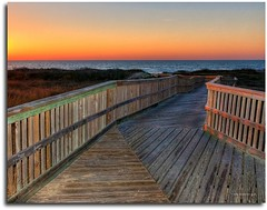 Boardwalk At Sunrise (DMoutray - Denny Moutray Photography) Tags: beach sunrise boardwalk portaransas flickrphoto colorphotoaward platinumheartaward flickrclassique nikond300s dmoutray texas2011