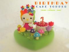 Hello Kitty birthday cake topper (charles fukuyama) Tags: cute hellokitty clay sculpted customcaketopper birthdaycaketopper kittycaketopper