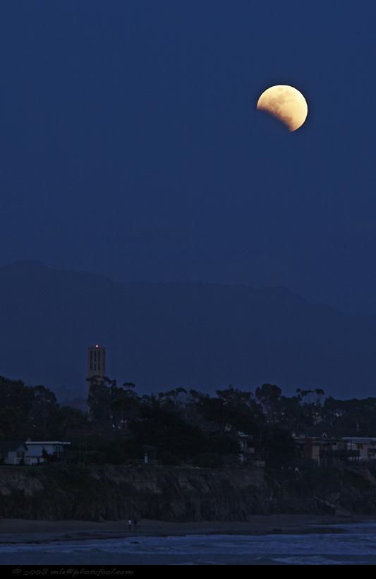 moon beach lunareclipse california photofool