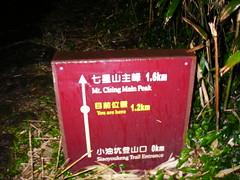 七星山里程碑 目前位置1.2km