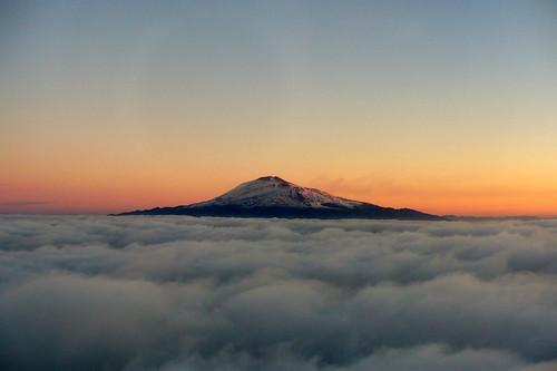 Etna acima das nuvens
