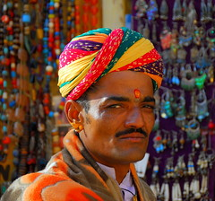 Portrait of a Rajput (... Arjun) Tags: portrait 15fav india man color colour topf25 colors 1025fav 510fav scarf sketch nikon colorful asia colours picture 100v10f study 2550fav photograph colourful d200 turban description representation jaisalmer rajasthan 2007 120mm portrayal likeness depiction rajput jaisalmerfort 18200mmf3556g visualrendering bluelist trikutahill thegoldenfortress portraitofarajput