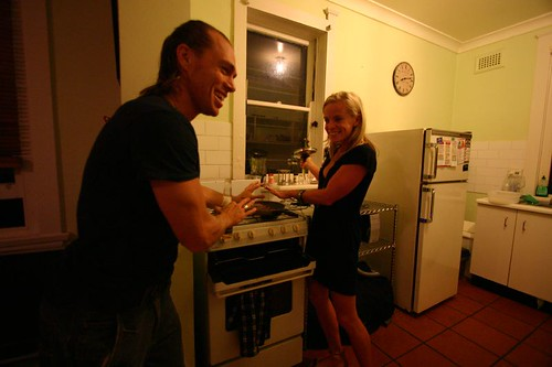 Scottie and Kate handcooking - the new way of cooking in Bondi!