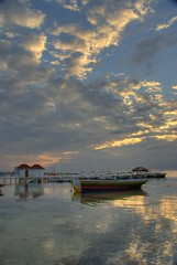 Morning at Woody's Wharf (RussHeath) Tags: color island nikon raw belize tropical ambergriscaye hdr 3x nikon18200 d80 3exposure