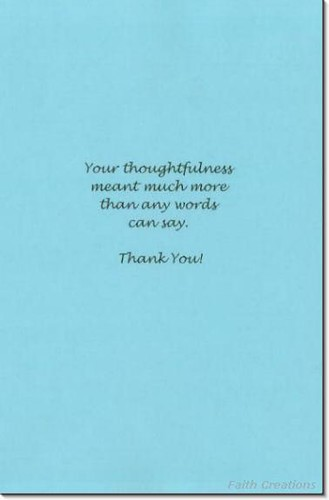 sympathy card etiquette Thank You Greetng Card Inside
