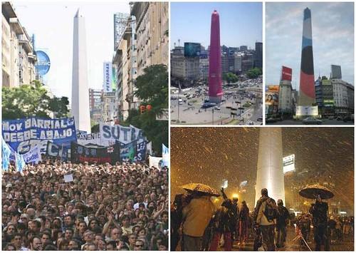 festejos en el Obelisco