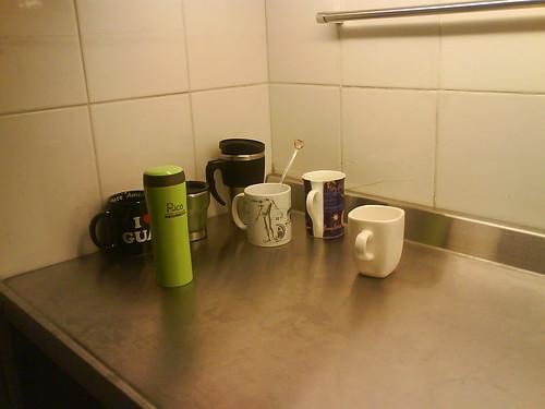 下班後的茶水間