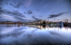 Unreal (Anders Adermark) Tags: sky water clouds reflections evening hdr luma sigma1020mm hammarbysjstad 3exp hammarbysj