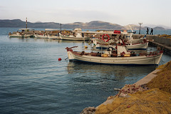 Kiveri Quay (Ed Chadwick) Tags: leica film kodak greece portra m2 160nc kiveri