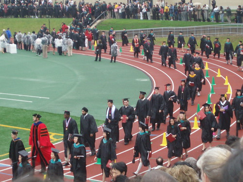 Academic procession starting