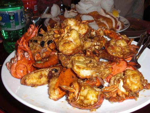 Lobster in Black Bean Sauce