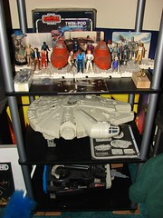 Star Wars Vintage  1977-1984 Toys, Millennium Falcon, ESB Display Stand, Cloud City. (Darryl W. Moran Photography) Tags: original vintage toys starwars 1982 yoda collection r2d2 empire 1984 jedi stormtrooper 1981 jabba xwing kenner 1978 1983 vader lukeskywalker 1980 1979 han chewbacca leia c3po fett obiwan earlybird bwing ywing bluesnaggletooth cloudcityplayset vinylcapejawa