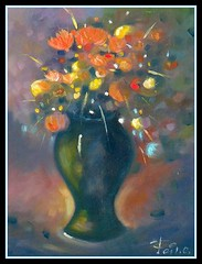 fiori (cicipeis) Tags: sardegna italy art sardinia colore arte natura quadro ombre fiori rosso luce cici artista olio alghero ambiente storia dipingere pittura dipinto pittore peis guspini cicipeis