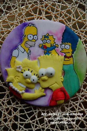 The Simpsons decoupaged cake Toper