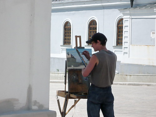 painter in Kazan Kremlin