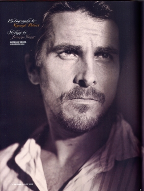 Christian Bale, Aug 2008 GQ