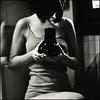 (.kimmika) Tags: portrait blackandwhite bw reflection 6x6 me girl mediumformat square mirror fuji homemade bronica 100 rodinal sqa acros 150mm zenza kimmika abitshaky andididntknowitwasanacros100 wellididntremeberitwas andidevelopeditasaneopan400doh