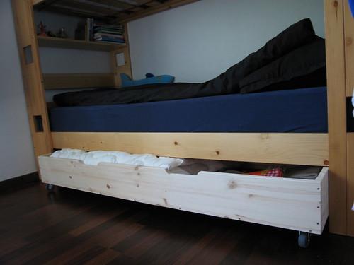 Homemade under bed storage drawer