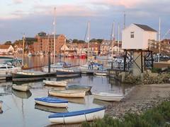 Wells-Next-The-Sea, Norfolk, England (bestfor / richard) Tags: uk sunset summer colour sunshine outdoors coast europe harbour norfolk noordzee bateaux northsea zomer verano nordsee distiller