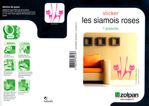 stickers SIAMOIS pour ZOLPAN