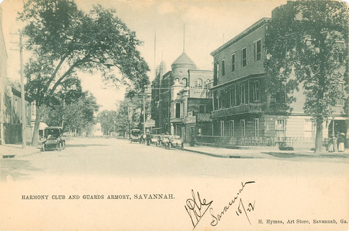 Harmony Club and Guards Armory, Savannah.  H. Rymes, Art Store, Savannah Ga.