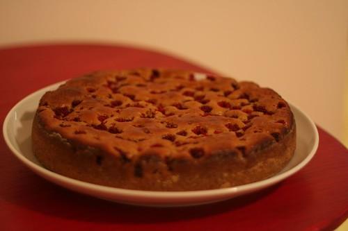 Gâteau au Yaourt à la Framboise d'un plat