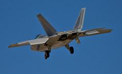 F-22 On final (_Allen_) Tags: plane geotagged unitedstates lasvegas aircraft nevada jet raptor f22 2008 nellisafb sunrisemanor ge:tilt=0 ge:range=1000 1dsmarkiii jefx jefx2008 geo:lat=36218345 geo:lon=115056457