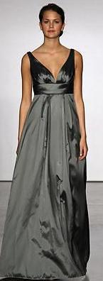 Stone taffeta gown